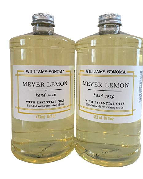 Williams Sonoma Meyer Lemon Two Hand Soaps 16 Oz Review